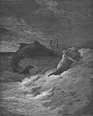 English: Jonah Is Spewed Forth by the Whale (J...