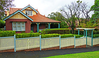 Roseville, New South Wales - Federation house characteristic of the Roseville area
