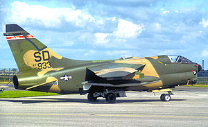 114th Fighter Wing - A-7D Corsair II 70-933, about 1980