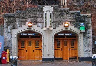 181st Street (IND Eighth Avenue Line) - Overlook Terrace entrance at West 184th Street
