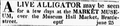 1821 alligator MarketMuseum BostonDailyAdvertiser Aug3.png
