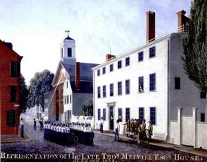 Thomas Melvill (American patriot) - Image: 1832 Melvill House Green St Boston