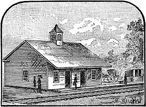 Lynn (MBTA station) - Early image of the 1838 station