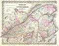 1855 Colton Map of Canada East or Quebec - Geographicus - Quebec-colton-1855.jpg