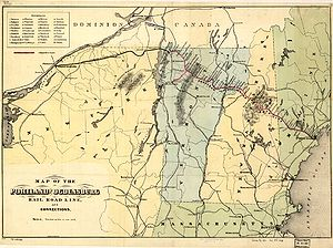 Portland and Ogdensburg Railway - 1870s map