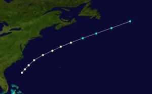 1864 Atlantic hurricane season - Image: 1864 Atlantic hurricane 1 track