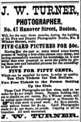 1877 J W Turner photographer advert 47 Hanover Street in Boston.png