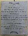 18 June 1815 – Waterloo – St Joseph's Church, Tablet Right, 4.jpg
