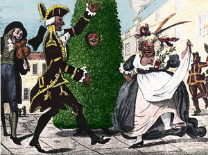 Green Man - 18th century print of chimney-sweeps' May Day Jack in the Green in London