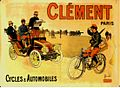 1903 poster Advertising Clement Cycles and Automobiles. (Musee Automobile de Reims).jpg