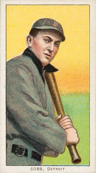 1909 World Series - A Ty Cobb baseball card, c. 1909–1911