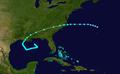 1912 Atlantic tropical storm 1 track.png