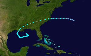1912 Atlantic hurricane season - Image: 1912 Atlantic tropical storm 1 track