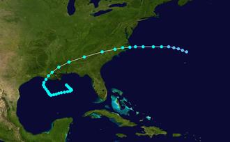 1912 Atlantic hurricane season - Image: 1912 Atlantic tropical storm 1 track
