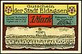 1921-06-01 Gutschein der Stadt Eldagsen, 1Mark, gültig bis 1. Februar 1922, c, faksimilierte Unterschrift der Magistrat, Merian-Stich um 1600.jpg