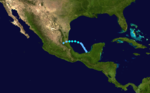 1933 Atlantika tropika ŝtormo 10 track.png