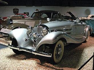 Mercedes-Benz 500K - 1936 Mercedes-Benz 500K Special Roadster, Harrah Collection; National Automobile Museum; Reno, Nevada.