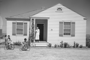 Timeline of Wichita Falls, Texas - House in Wichita Gardens, built circa 1933 by U.S. Department of Interior Subsistence Homesteads Division