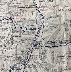 1941 map of Kernville area