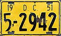 1951 District of Columbia license plate.jpg