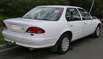Ford Falcon (EL) - Ford Falcon Futura sedan. Amber rear turn signals on GLi and Futura sedans replaced the white EF lenses.