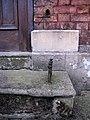 1GL bench mark and bolt on former Methodist Chapel - geograph.org.uk - 1566231.jpg