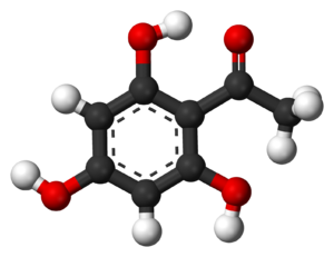 2,4,6-Trihydroxyacetophenone - Image: 2,4,6 Trihydroxyacetopheno ne 3D balls