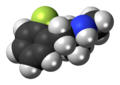 2-Fluoromethamphetamine molecule spacefill.png