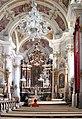 20050903060DR Toblach (Bozen) Pfarrkirche Johann Baptist zum Altar.jpg