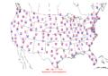 2006-07-17 Max-min Temperature Map NOAA.png