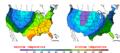 2012-11-12 Color Max-min Temperature Map NOAA.png