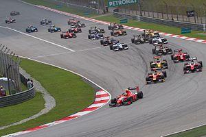 2012 GP2 Series - The start of the season-opening race at Sepang.