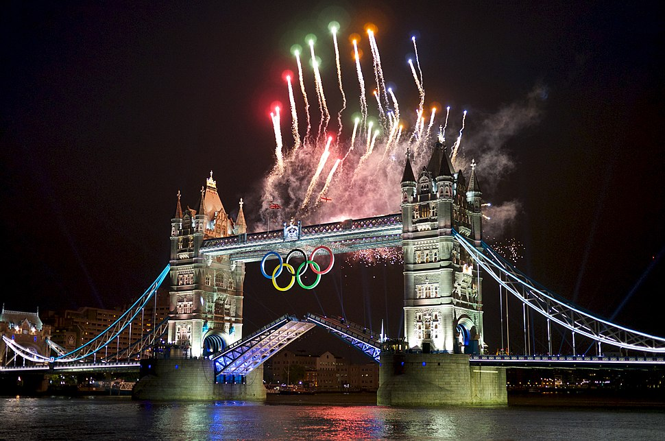 2012 Summer Olympics Opening Ceremony Fireworks Tower Bridge