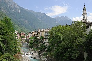 Chiavenna - Townscape on the Mera