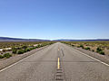2014-07-06 15 14 07 View west along Nevada State Route 140 (Adel Road) about 32.9 miles east of the Oregon border in the Sheldon National Wildlife Refuge, Nevada.JPG