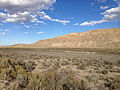 2014-10-20 15 49 18 Distant view of the California Trail - Thousand Springs Creek marker along Wilkins-Montello Road (Elko County Route 765) about 14.7 miles east of U.S. Route 93 in Elko County, Nevada.JPG