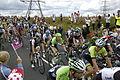 2014 Tour de France stage 2, near Littleborough (peloton)(3).JPG