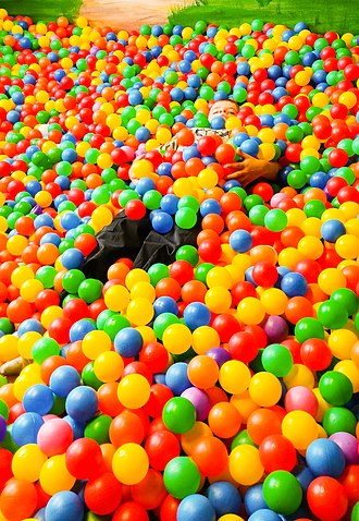 Ball pit - Kid in a ball pit