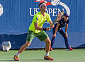 2015 US Open Tennis - Qualies - Guilherme Clezar (BRA) def. Nicolas Almagro (ESP) (12) (21126153406).jpg