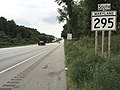 2016-08-12 15 30 26 View south along Maryland State Route 295 (Baltimore-Washington Parkway) just south of Interstate 695 (Baltimore Beltway) in Linthicum, Anne Arundel County, Maryland.jpg