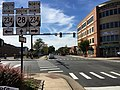 2016-10-11 14 59 58 View south along Virginia State Route 28 (Church Street) at Virginia State Route 234 Business (Grant Avenue) in Manassas, Virginia.jpg