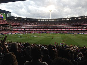 2016 AFL Grand Final - The reaction of the players and supporters moments after the final siren