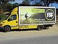 2018-02-01 Van used to advertise Surf school at the rear of Praia da Galé (East), Albufeira.JPG