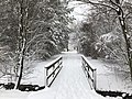 2018-03-21 11 38 34 View along a snow-covered walking path as it crosses a bridge in the Franklin Farm section of Oak Hill, Fairfax County, Virginia.jpg