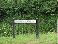 2018-06-20 Street name sign, Church Lane, Mundesley.JPG