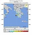 2018-10-25 Mouzaki, Greece M6.8 earthquake intensity map (USGS).jpg