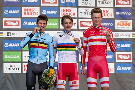 20180924 UCI Road World Championships Innsbruck Men U23 ITT Award Ceremony 850 8396.jpg