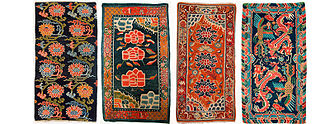 Tibetan rug - Tibetan khaden with designs from the early part of the 20th century showing the greater elaboration and wider color range from this period