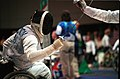 221000 - Wheelchair Fencing Michael Alston action 3 - 3b - Sydney 2000 match photo.jpg