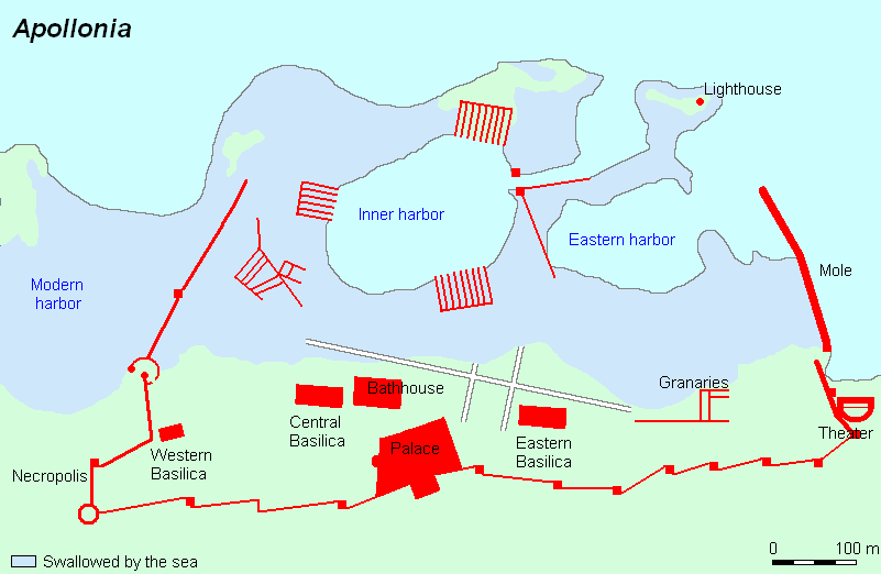 365 Crete Earthquake, Apollonia, Map (Jona)
